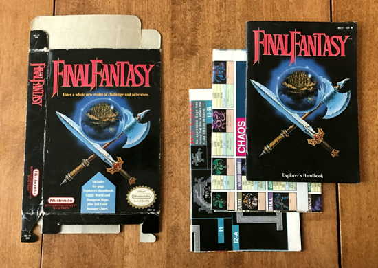 Final Fantasy 1990 handbook and maps