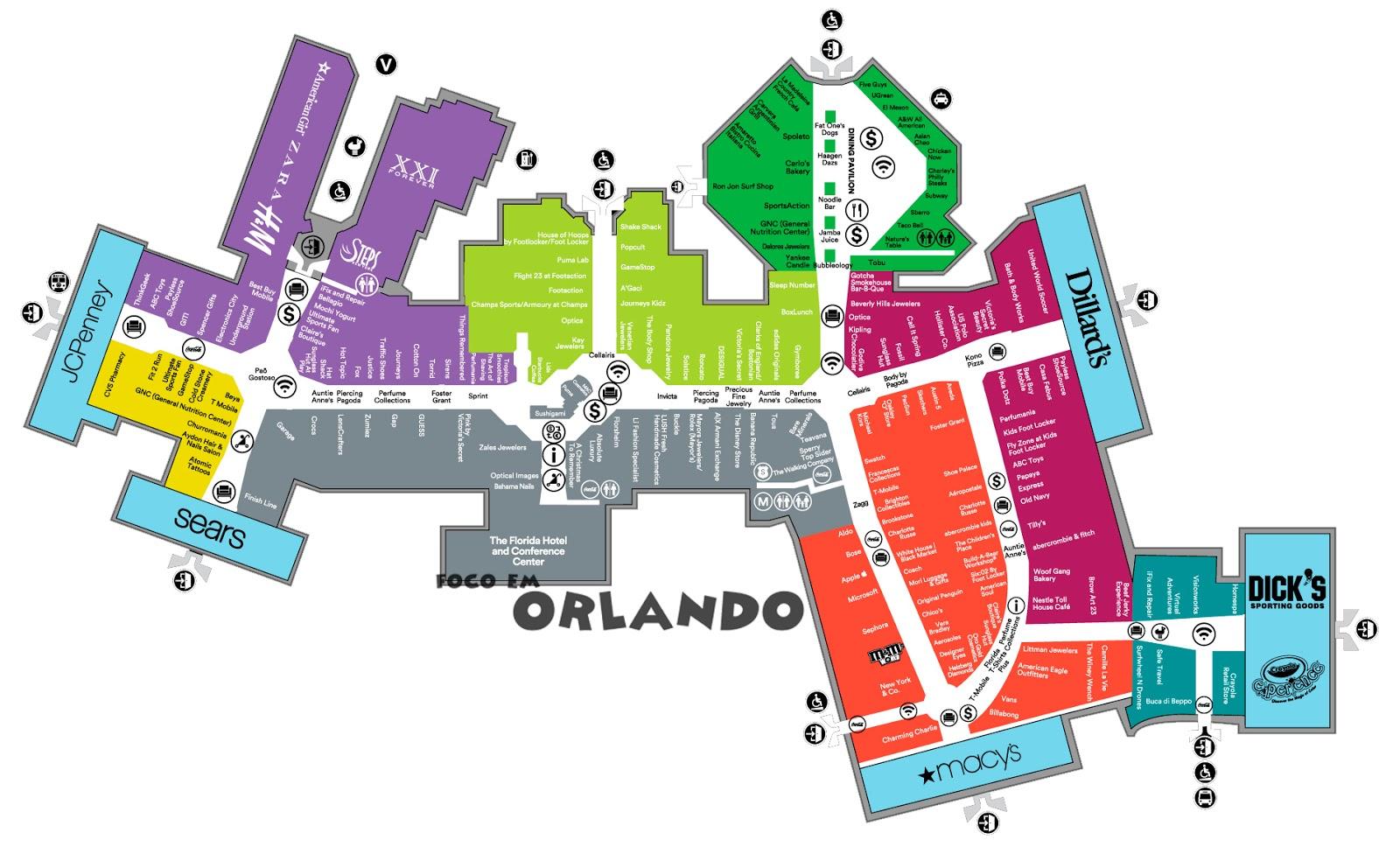 Mapa Florida Mall