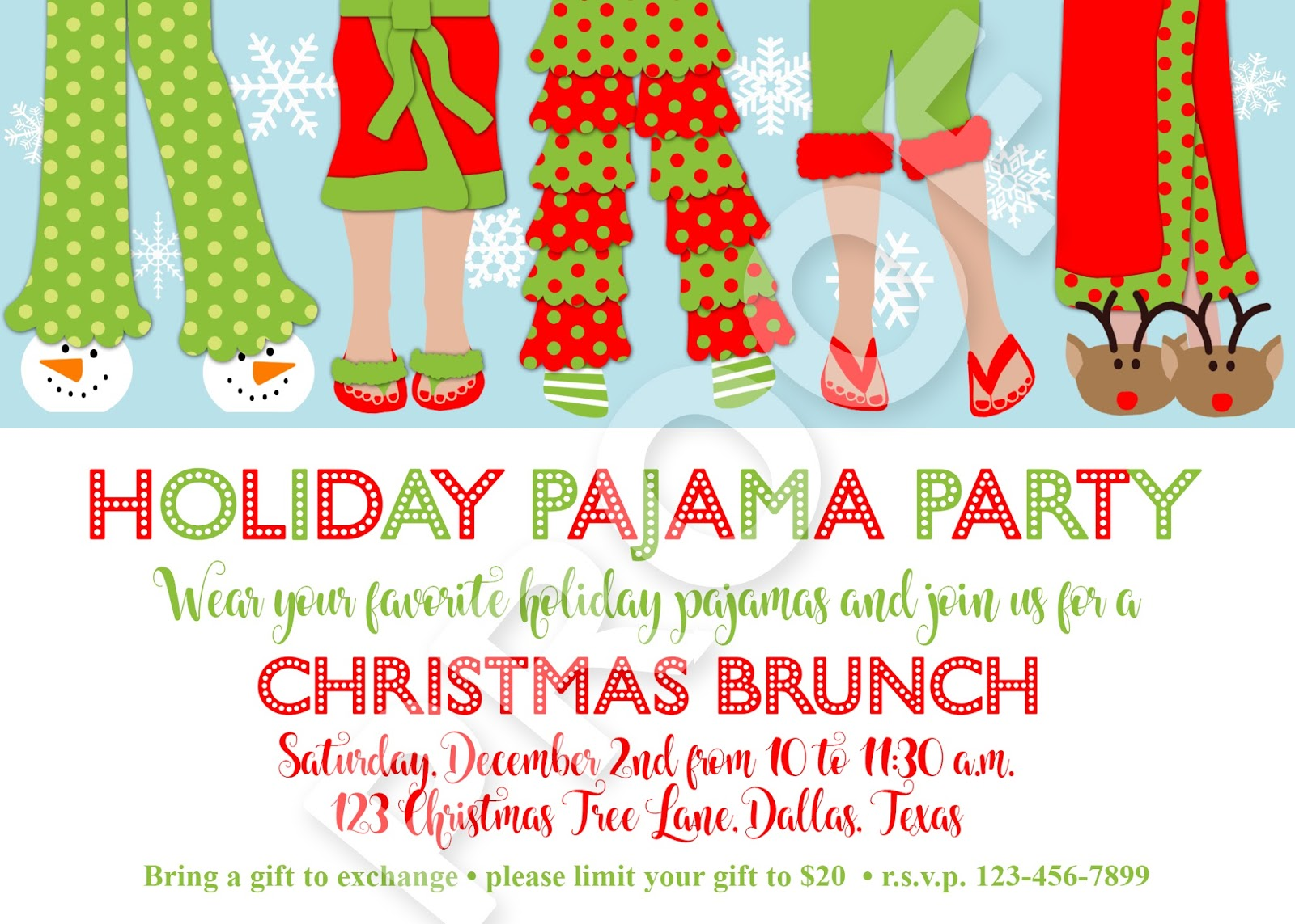 Paper Perfection: Christmas Pajama Party Invitation