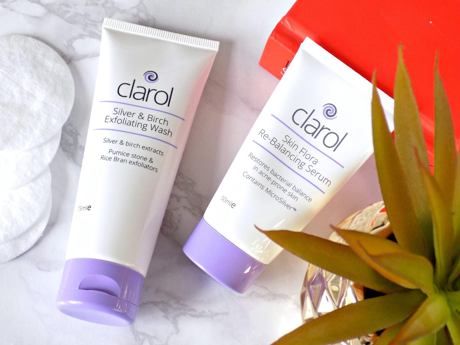 Clarol Skin Flora Re-Balancing Serum, Silver & Birch Exfoliating Wash