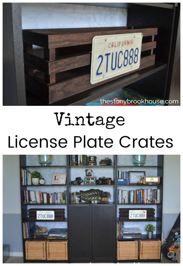 Vintage License Plate Crate