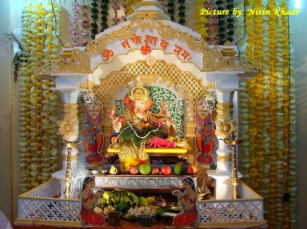 home decoration ideas for ganesh chaturthi happy ganesh chaturthi 2014 ganesh chaturthi decoration 13418