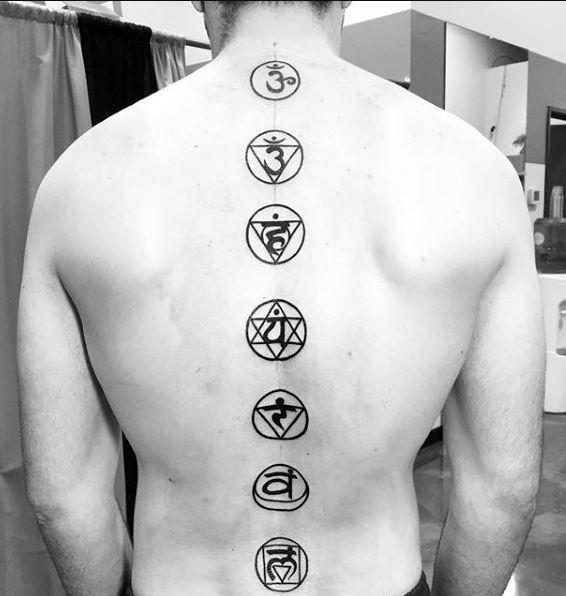 spine Tattoos For Men