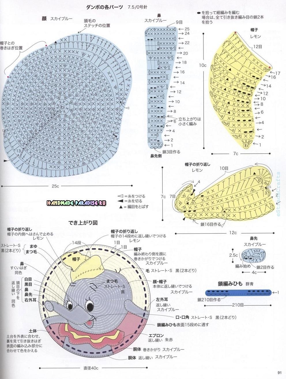 Схемы вязания сидушек в форме кошечки, олененка и слоника (6)