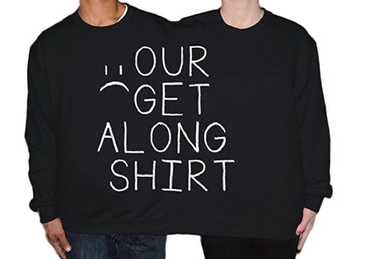 Two person sweatshirt