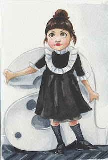 kid portrait, family artist, watercolor portrait, affordable portraits, affordable watercolor art
