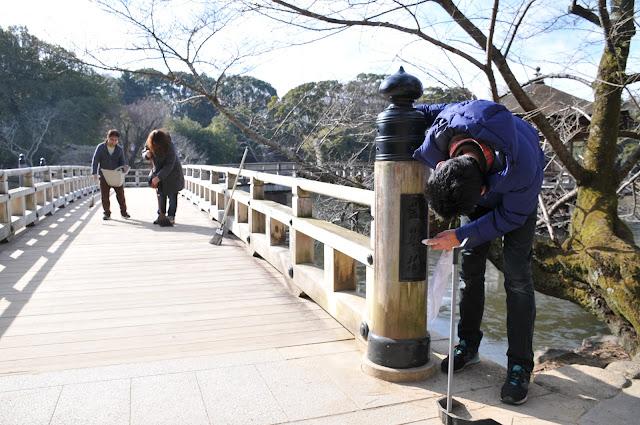 奈良公園で清掃活動