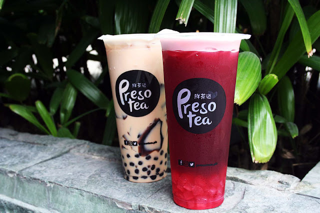 Presotea PPJ Milk Tea Blueberry with Aloe