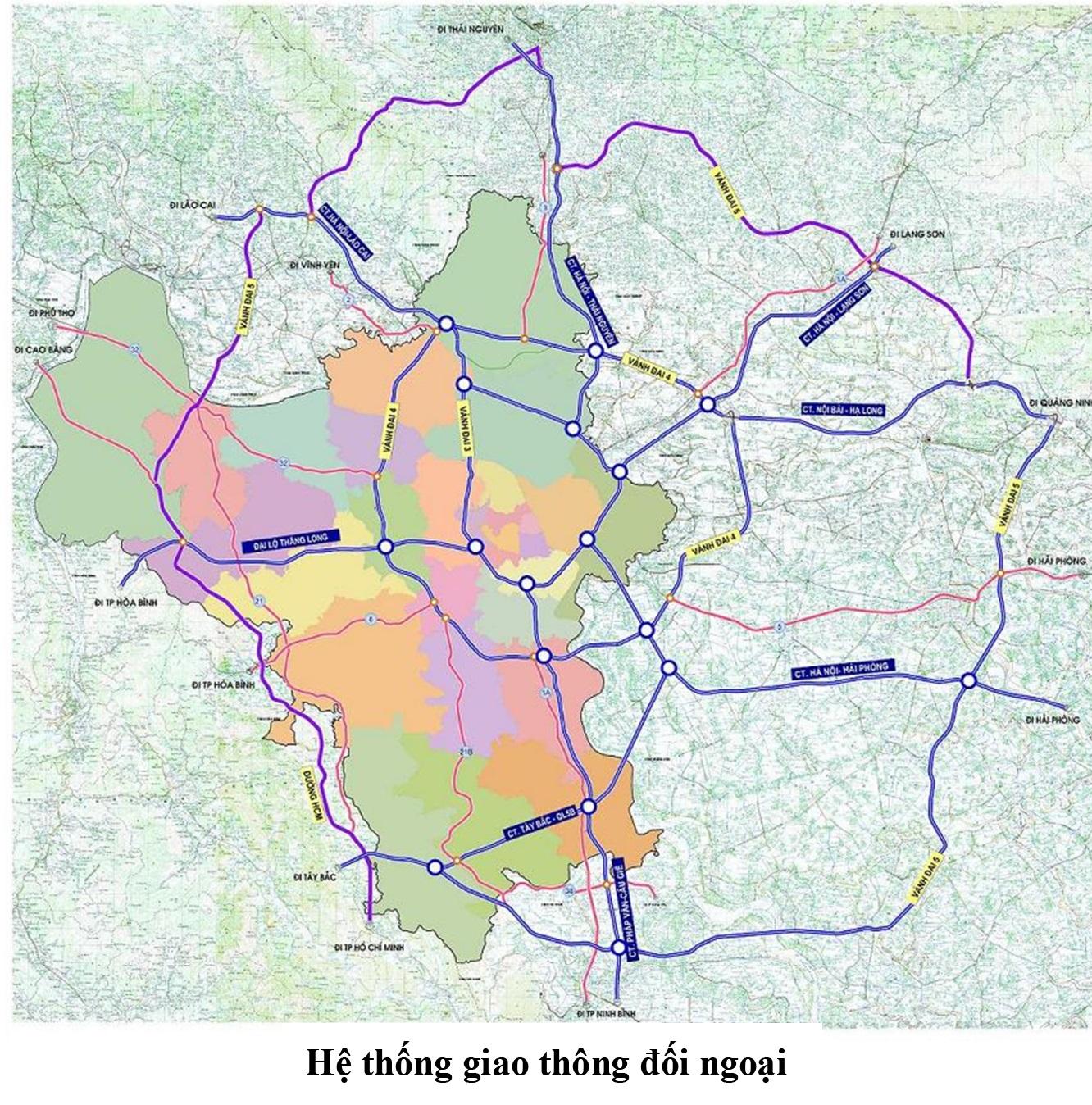 Mạng lưới giao thông ngoại đô thị Hà Nội