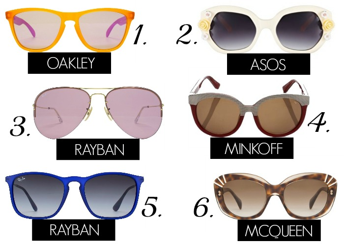 Summer Sunglasses Wishlist