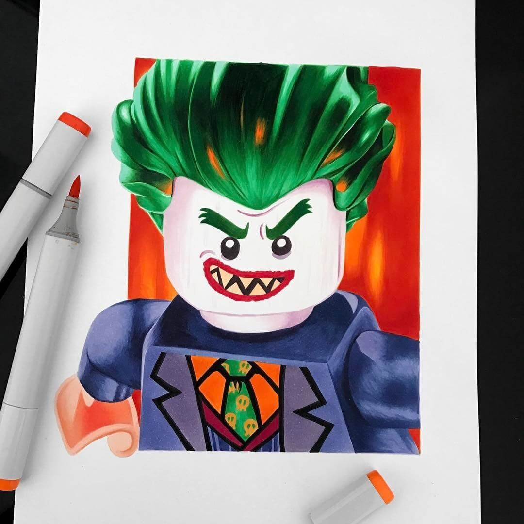 14-Lego-Joker-Stephen-Ward-Movie-and-Comics-Superheroes-and-Villains-Drawings-www-designstack-co