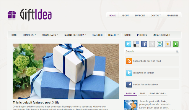 Gift and Shopping Blogger Template