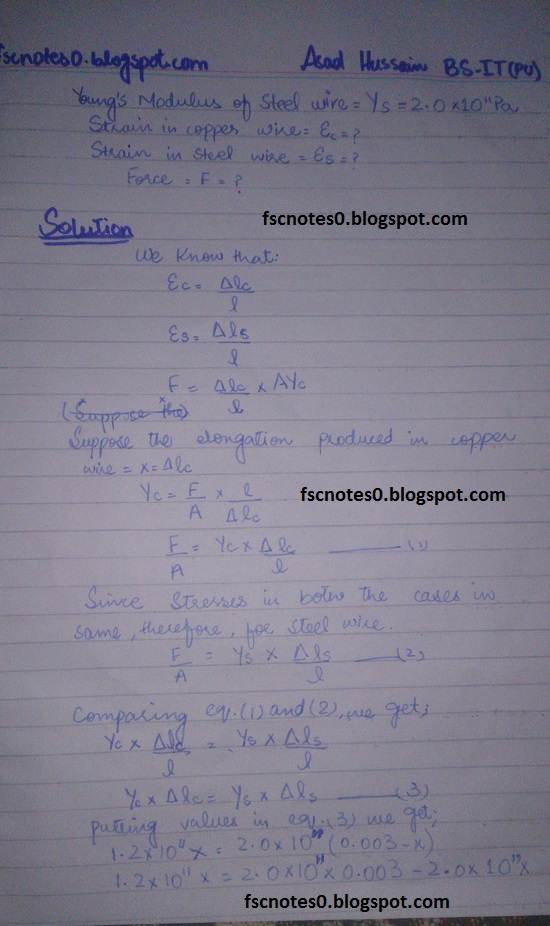 F.Sc ICS Notes: Physics XII: Chapter 17 Physics of Solids Numerical Problems by Asad Hussain 5