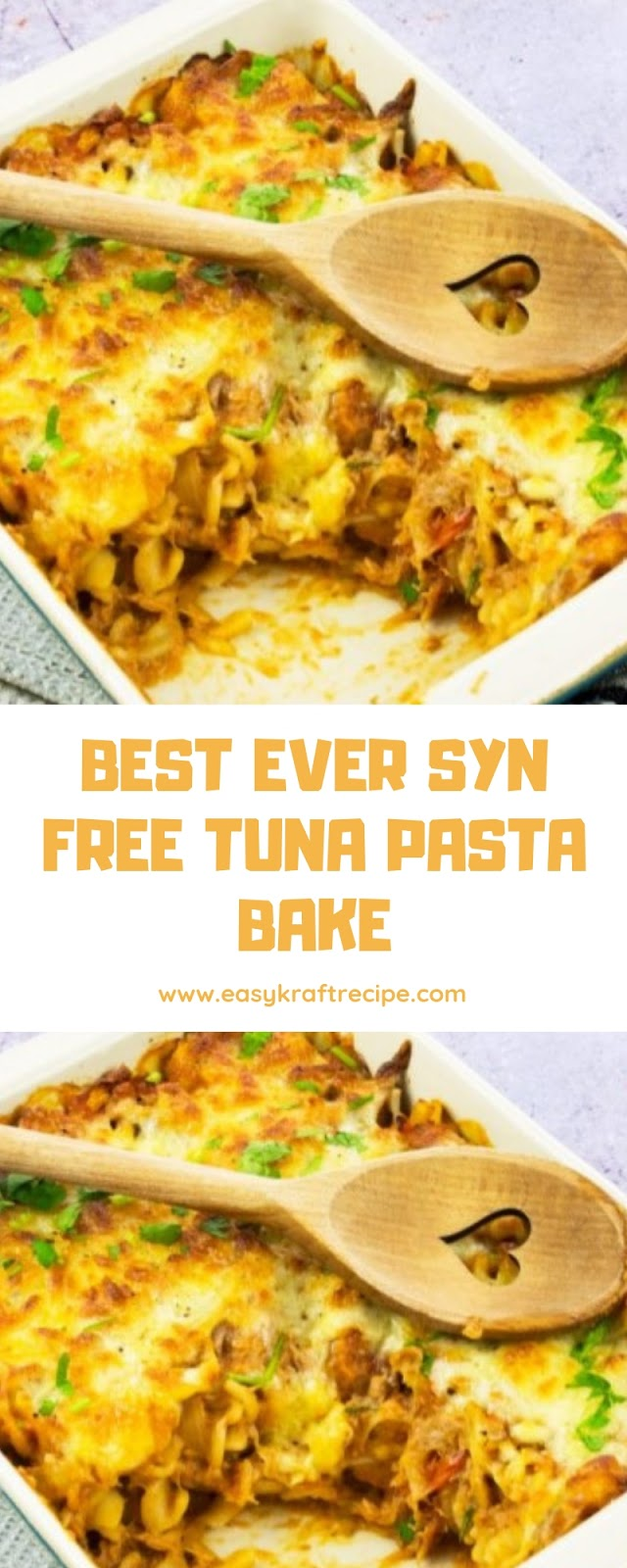 BEST EVER SYN FREE TUNA PASTA BAKE