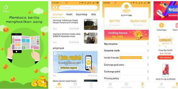 TERBARU!! Aplikasi penghasil pulsa & uang dengan bonus daftar 10.000 perinvite 20.000