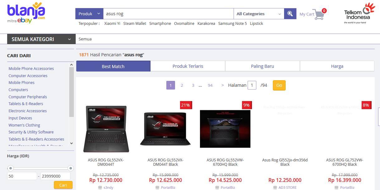 Laptop Blanja.com