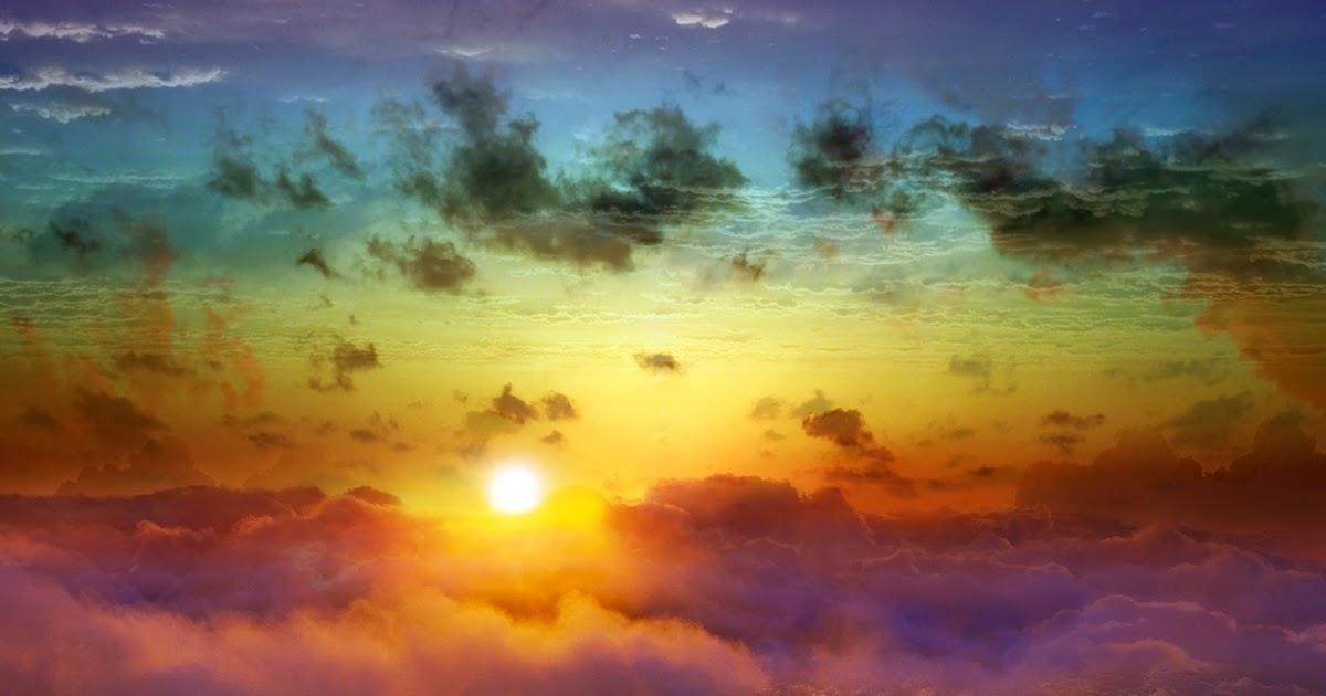 Colorful Sky Sunset Waves Landscape HD Wallpaper | HD ...