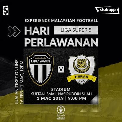 Live Streaming Terengganu vs Perak Liga Super 1.3.2019
