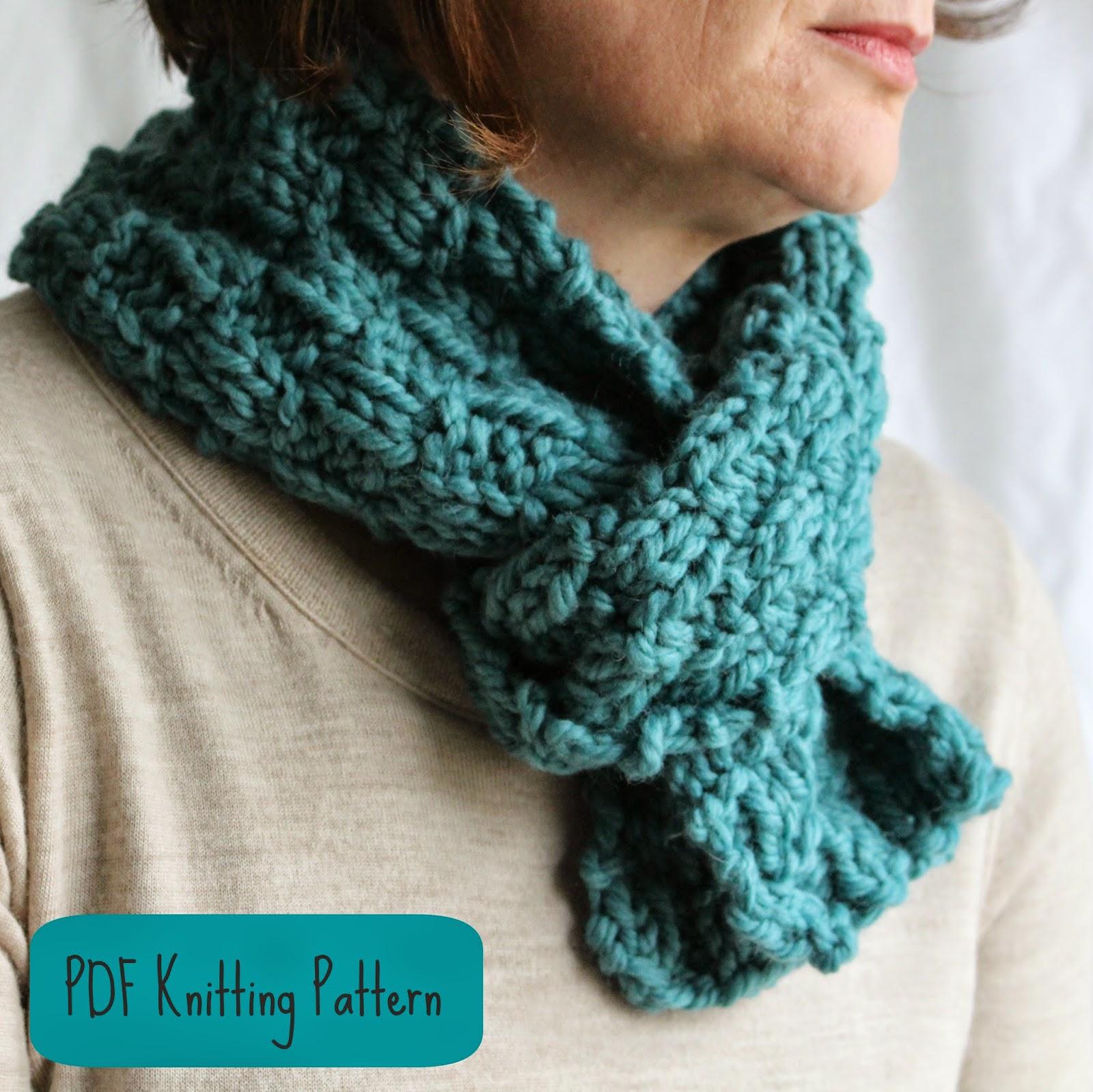 Fifty Four Ten Studio: Free Easy Chunky Scarf Knitting Pattern