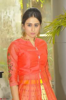 Simrat in Orange Anarkali Dress 18.JPG