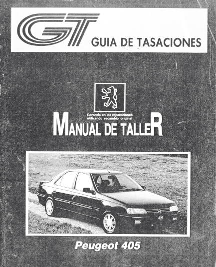 manual de taller peugeot 405 tomo i libros town. Black Bedroom Furniture Sets. Home Design Ideas