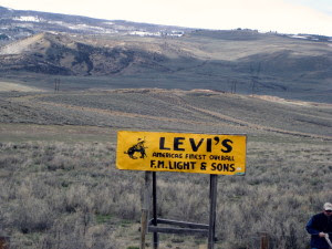 Historical Sign - Levi's Americas Finest Overall F.M. Light & Sons