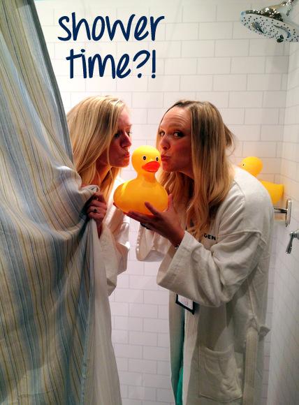 Casey and Bridget in Moen Shower