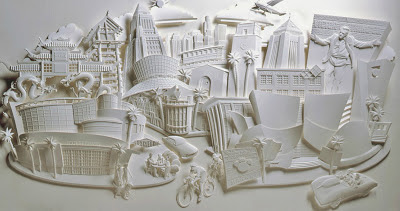 JEFF NISHINAKA's Paper Sculpture-The Savoy