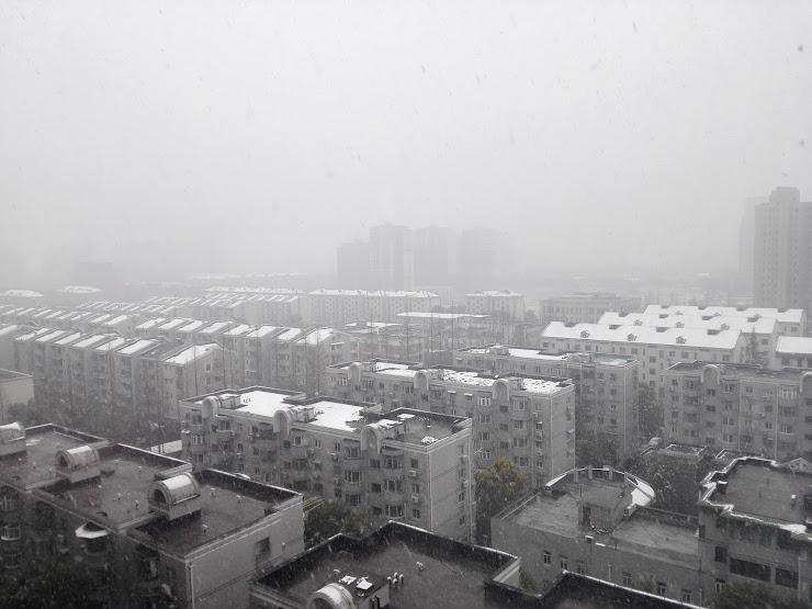 上海の積雪