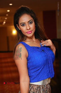 Telugu Actress Srilekha Reddy Latest HD Pos in Sleeveless Blue Top at Muse Art Gallery  0026.JPG