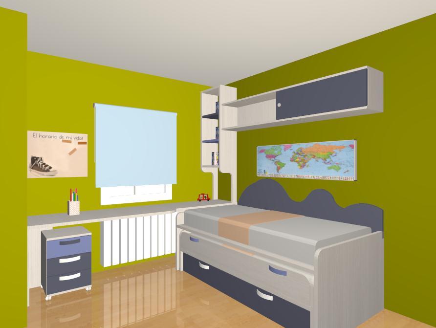 Al igual que el dormitorio anterior se puede hacer tanto for Estanterias con puertas correderas