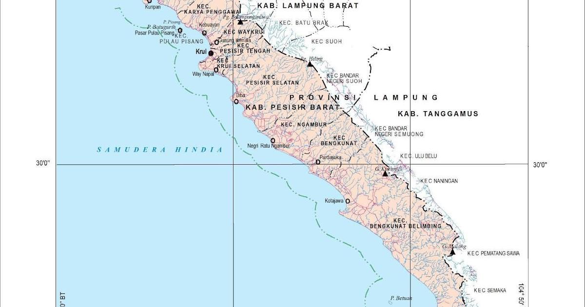 Peta Kota: Peta Kabupaten Pesisir Barat
