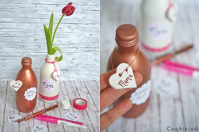 Muttertagsgeschenk glasflaschen