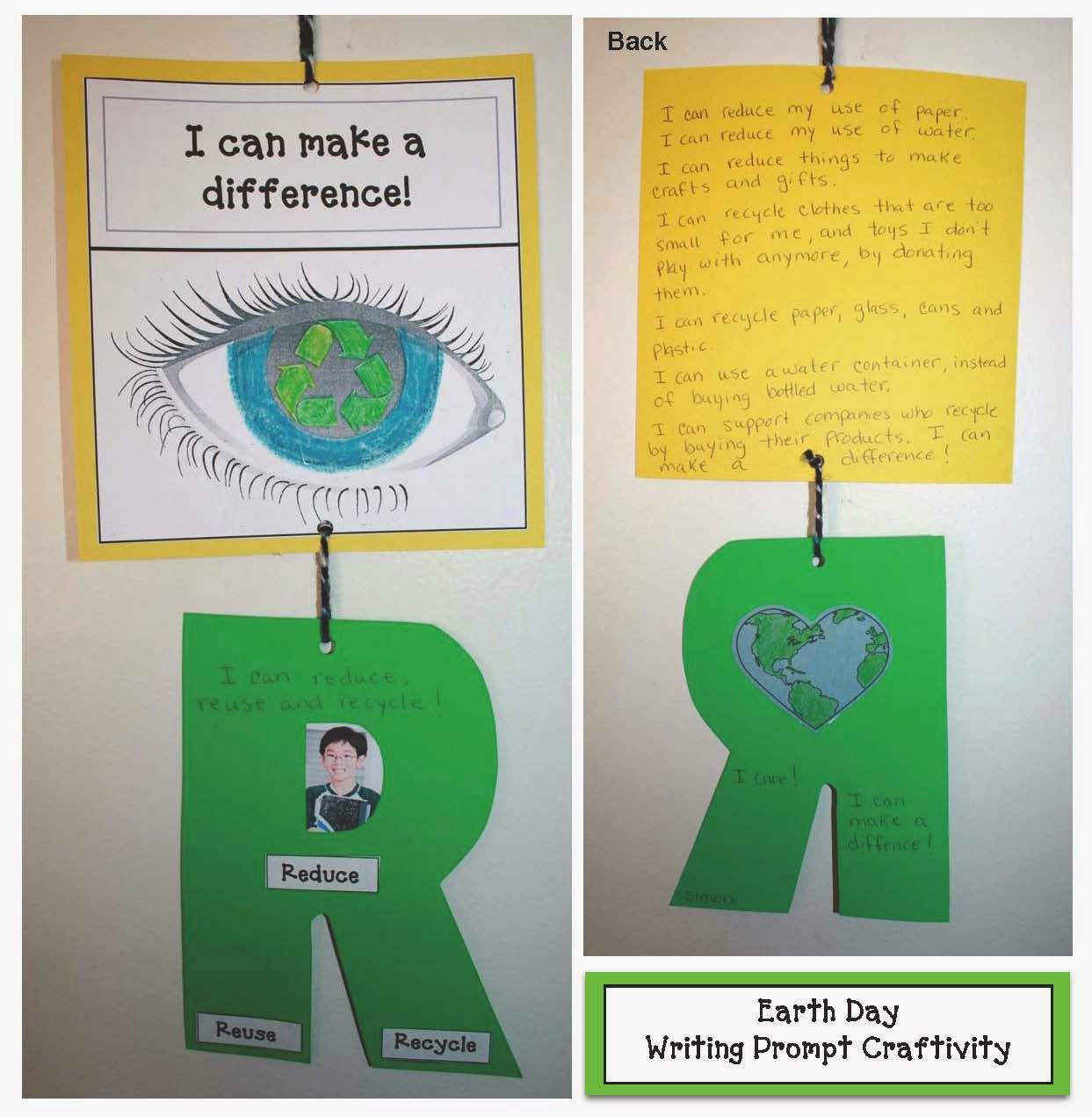 Classroom Freebies I Can Make A Difference Earth Day