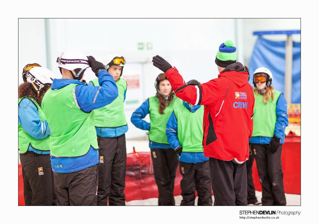 Receiving basic instruction at Chill Factore