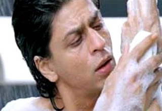 Shahrukh shares his own opened bathing bathroom video.