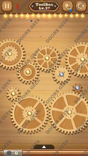 Fix it: Gear Puzzle [ToolBox] Level 27 Solution, Cheats, Walkthrough for Android, iPhone, iPad and iPod