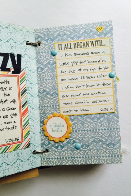 #projectlife #lists #love #scrapbook #minialbum #mixedmedia