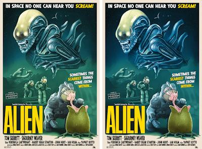 Alien Screen Print by Tom Walker x Bottleneck Gallery