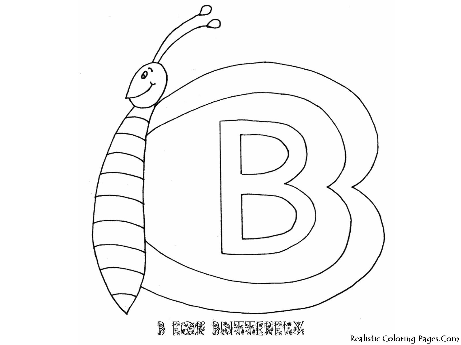 B Letters Alphabet Coloring Pages