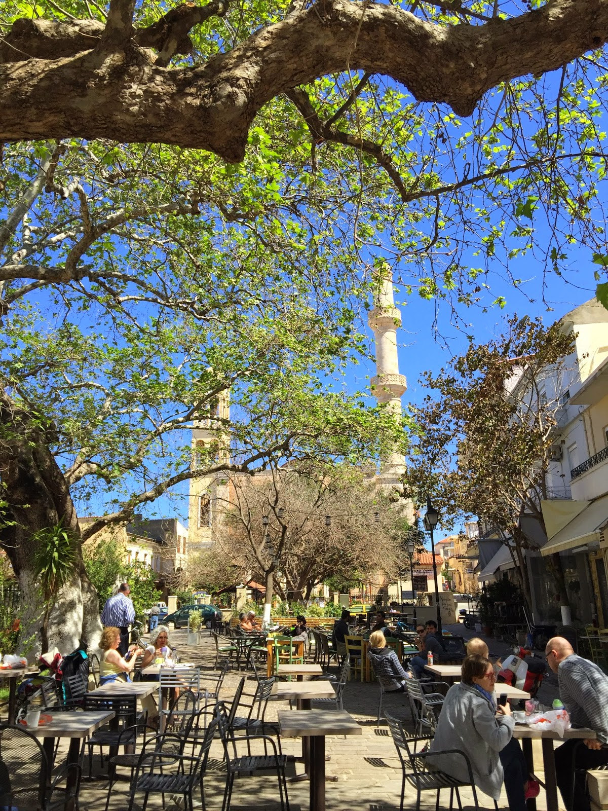 Chania town square on Greek island of Crete