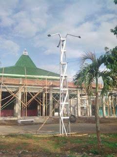 Menara Lampu Baja Ringan Galvalum terpasang