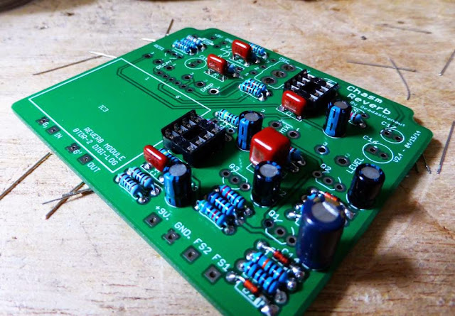 Prismatic Reverb PCB populated