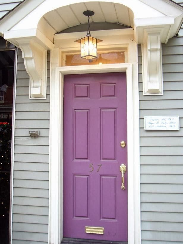beautiful mozaic violet painting interior doors | Arts and Crafts/Craftsman