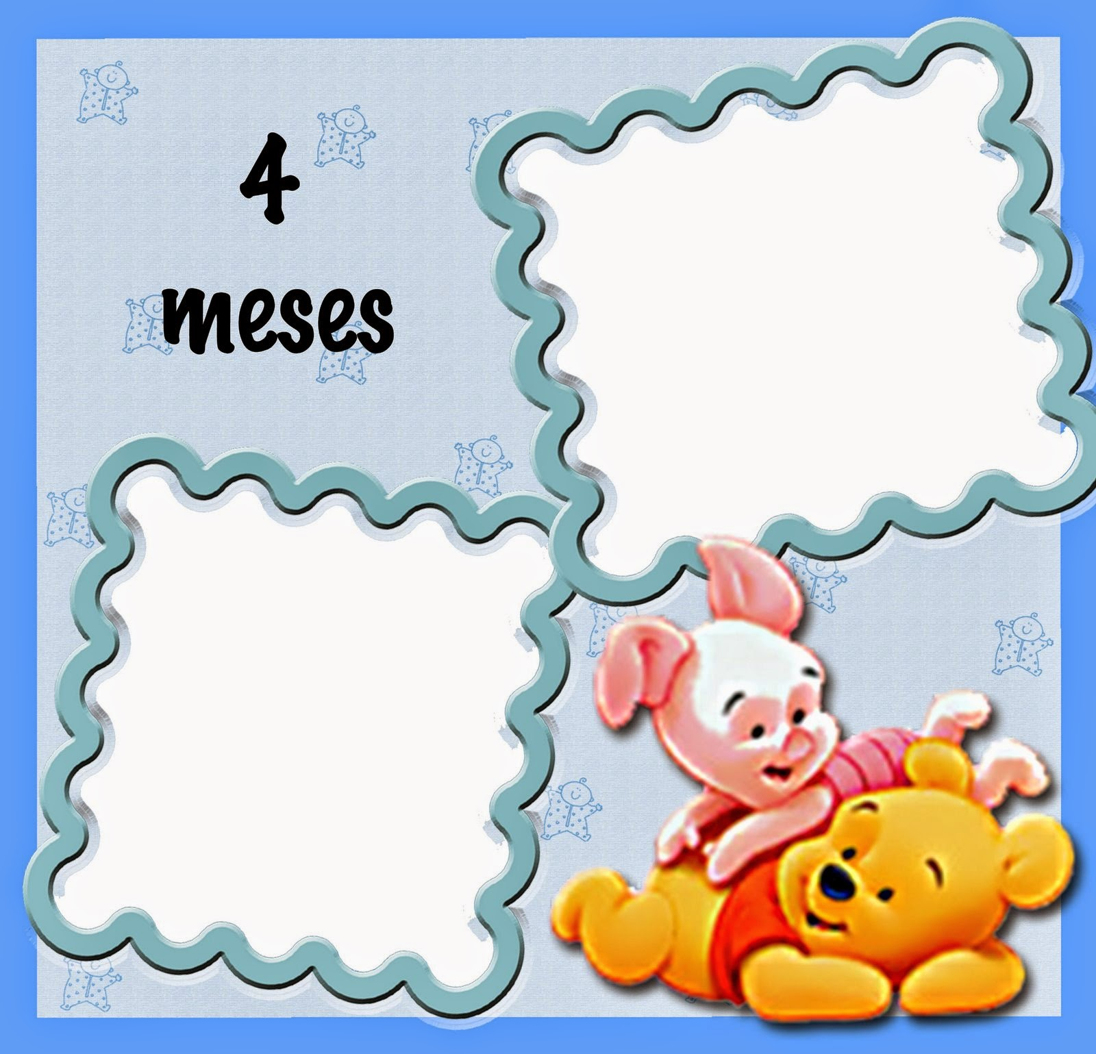Sweet Baby Pooh Free Printable First Year Month By Month Photo Album