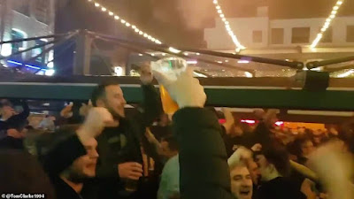 The comeback: Fans party into the night as Liverpool reach Champions League final
