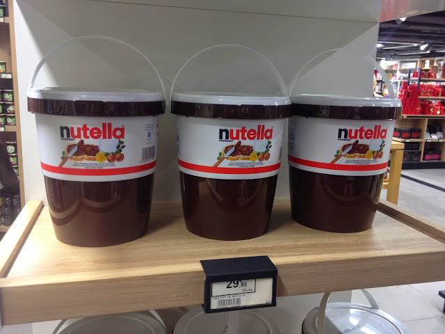 3kg Nutella bucket at Lafayette Gourmet, Paris