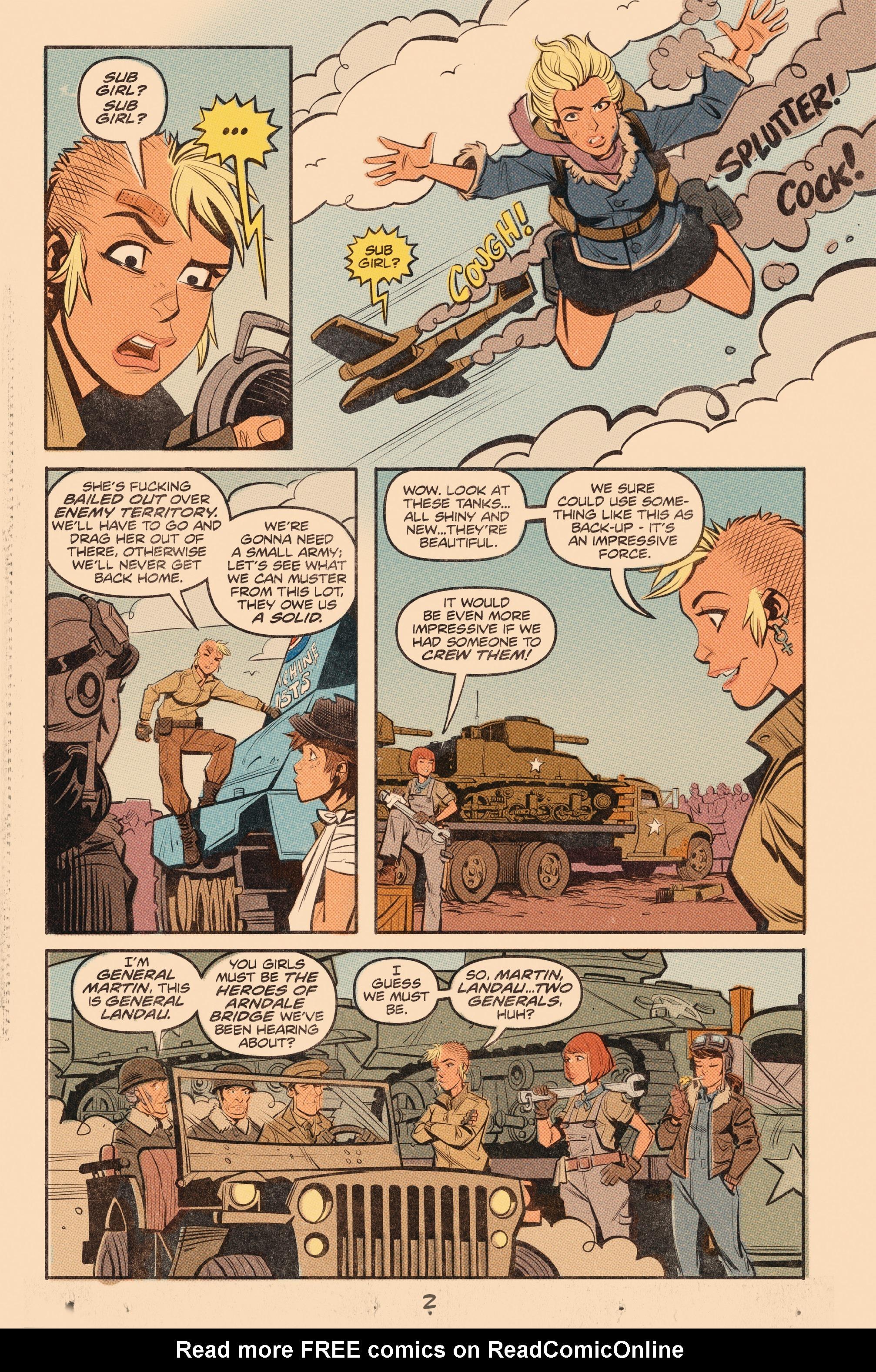 Read online Tank Girl: World War Tank Girl comic -  Issue #3 - 4