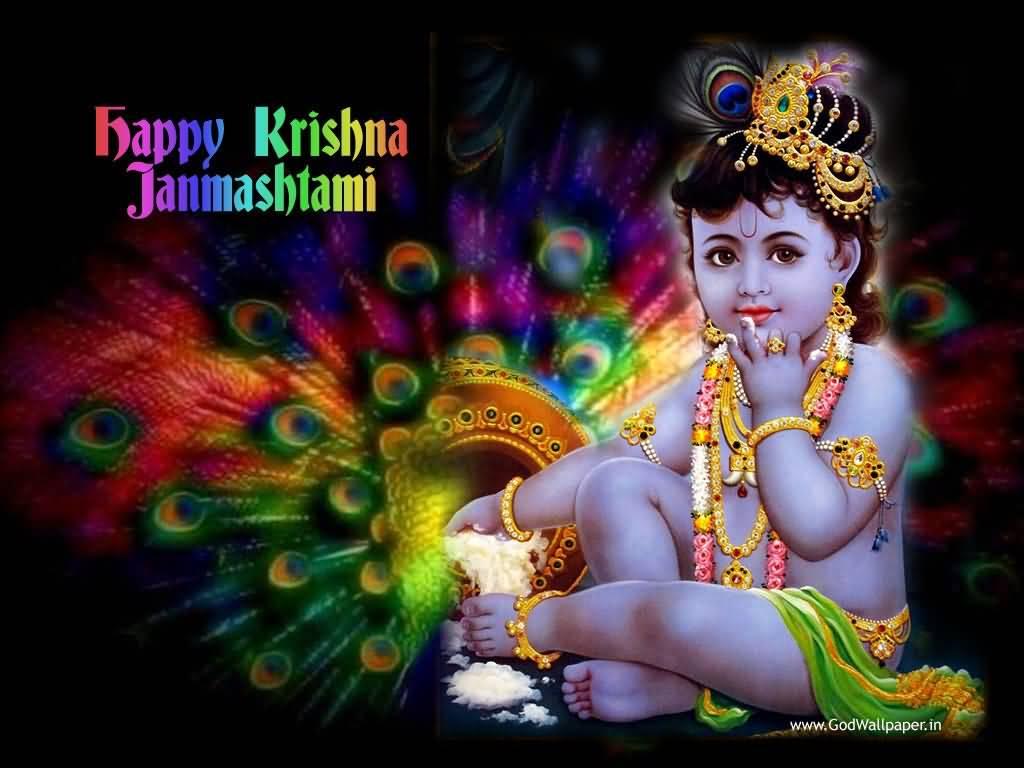 Sri krishna jayanti wallpaper - Shri Krishna Special Janmashtami Wishes Photo