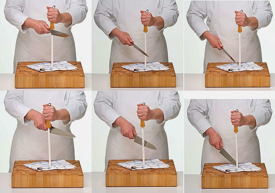 Направка ножа мусатом.